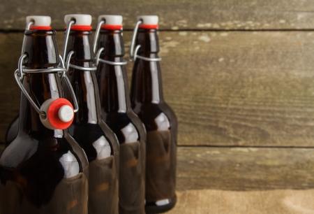 home brew easy cap beer bottles photo