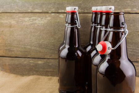 home brew easy cap beer bottles photo