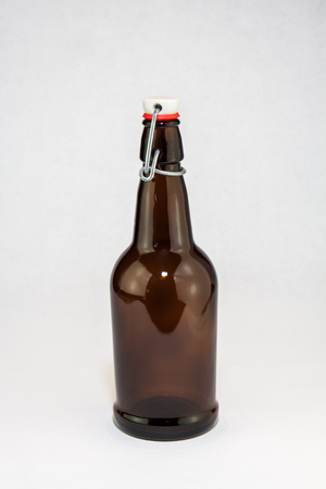 Home brew beer bottles photo