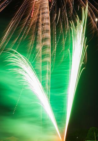 Fourth of July fireworks celebration Stock Photo