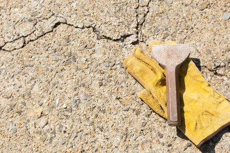 broach: hand tools for construction and demolition Stock Photo