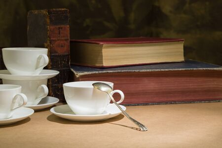 bistro: cup and saucer on a bistro table