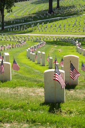 american field service: Marietta National Cemetery on Memorial Day