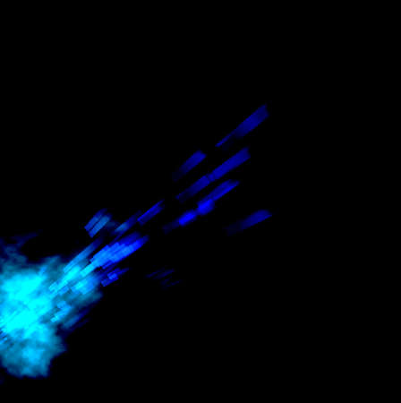 Blue laser burst illustration on black background