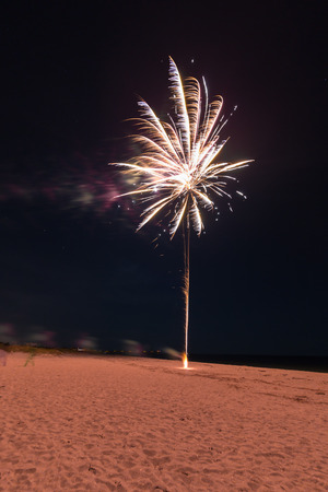 Fireworks on the beack in Venice Florida