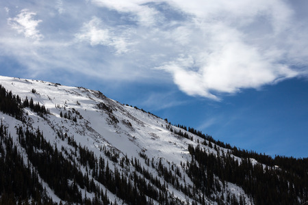 Loveland colorado ski mountain area snow Stock Photo