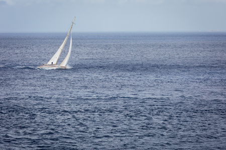 Sailing the blue ocean vactaion travel Stock Photo