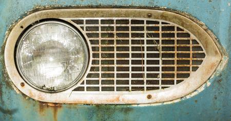 Old American Cars in a Junkyard Stock Photo