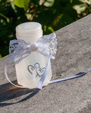 Bottle of bubbles wedding favor