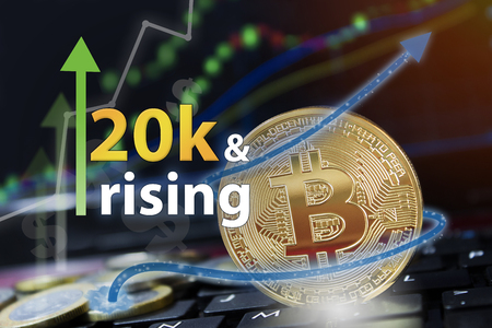 Bitcoin exchange seeing rising values of cryptocurrency and increased profits for investors.