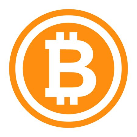Bitcoin symbol illustration.  Logo the crtyptocurrency Bitcoin is currently using.  Wide range of uses for this illustration. Stock Photo