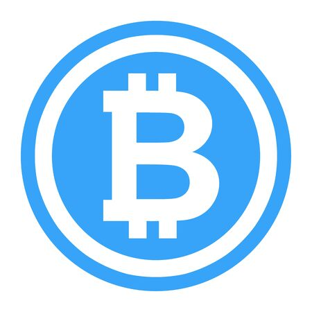 Bitcoin symbol illustration.  Logo the crtyptocurrency Bitcoin is currently using.  Wide range of uses for this illustration. Stock fotó