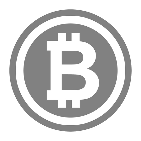 Bitcoin symbol illustration. The crtyptocurrency Bitcoin is currently using. Wide range of uses for this illustration. Stock Photo