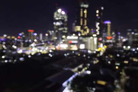 Bokeh blurred club and venue concept.  City at night for night life concept