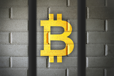 Bitcoin currency buying and selling banned in some countries.  Restrictions and government control over BTC usage.  Laws and legal concept.