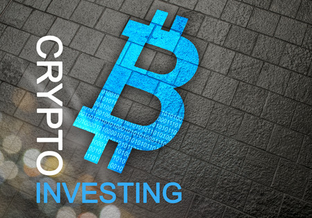 Investing in crypto coins like Bitcoin for financial growth and smart business moves.  Guidance and advice for online investors. Stock Photo