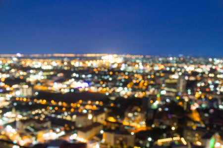 Blurred city shot showing electrical grid and great urban planning to power millions of homes and give electricity and lights to every person at night.