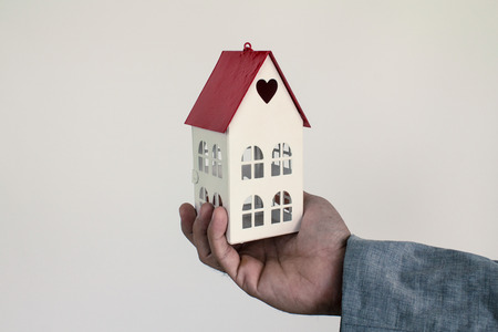 Home concept new buyers getting bank loan and looking at real estate.