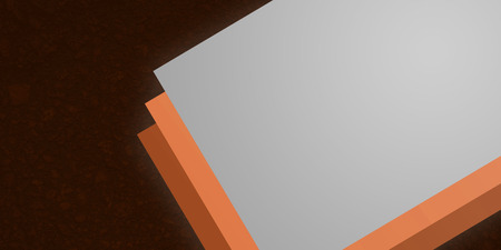 Orange fireline stacked layers for website element for page design with modern background div.  Contemporary design.