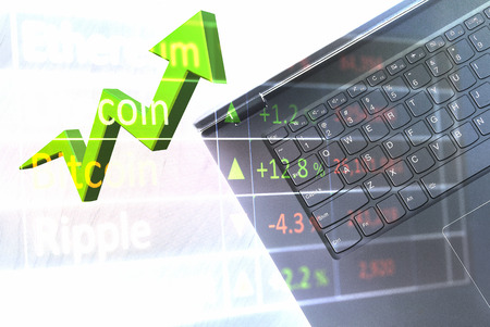 Crypto currency investments rising quickly.  Spike in value for quick profits.