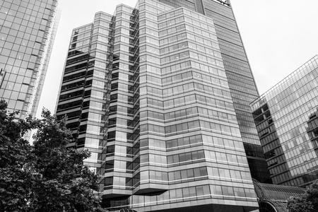 Business building facade for skyscraper design and construction concept.  New design facade.