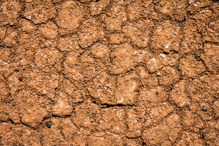 Dry earth, cracked ground, and arid weather. Dry skin care for parched texture. Background closeup.