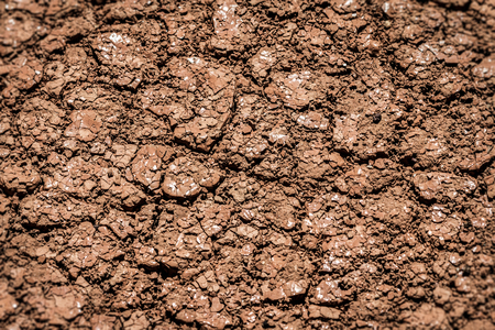 Dry earth, cracked ground, and arid weather.  Dry skin care for parched texture.  Background closeup. Reklamní fotografie