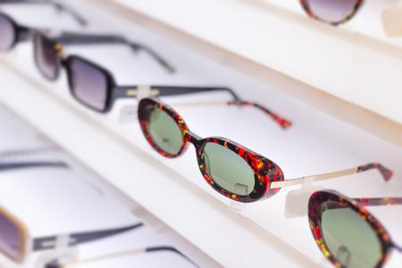 Sunglass eye wear shop and apparel.  Latest trending fashion. 스톡 콘텐츠