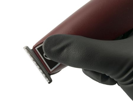 clippers: Close up on hair clippers
