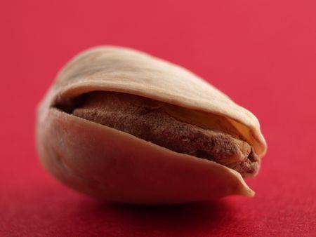 a close-up on a pistachio Imagens