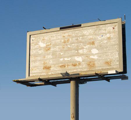 a billboard sign Stok Fotoğraf