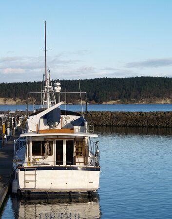 a boat sitting at a marina Stock Photo - 782004