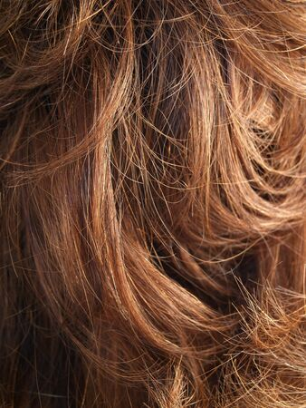 tresses: a close-up on hair Stock Photo