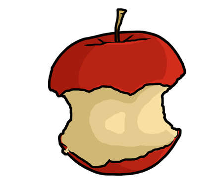 apple core: an illustration of apple core