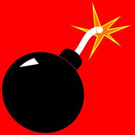 bombard: Un'illustrazione di una bomba