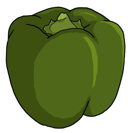 an illustration of a green bell pepper
