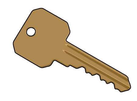 latchkey: an illustration of a key Stock Photo