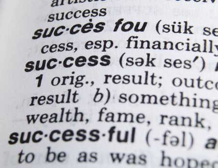 success in the dictionary