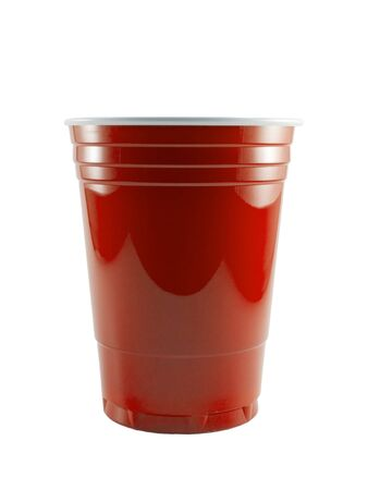 a close up on a red party cup