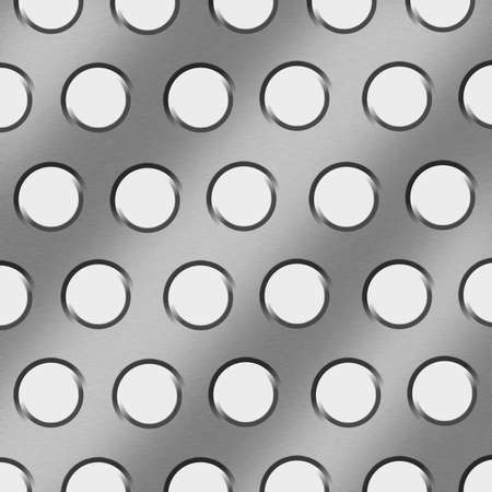 An illustration of a aluminum sheet with rivets.