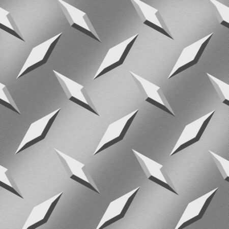 aluminum: An illustration of a sheet of aluminum with a diamond pattern. Stock Photo