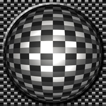 An illustration of a carbon fiber button.