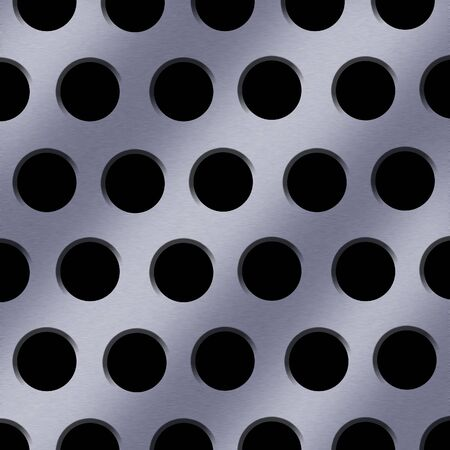 An illustration of a sheet of steel with a hole pattern.