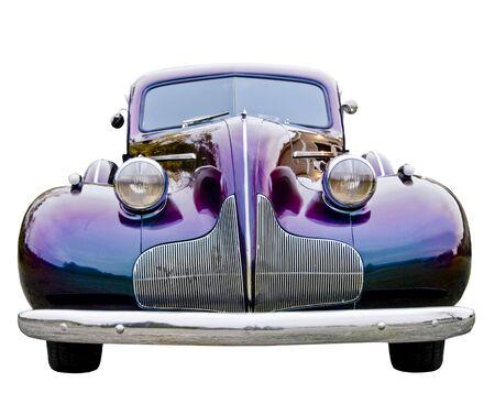A close up on a classic car. Imagens