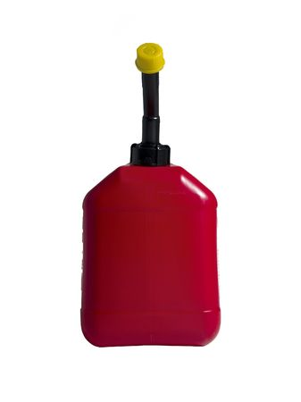 A red gas can isolated on a white background.