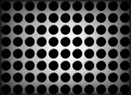 An abstract background illustration of metal holes. Imagens