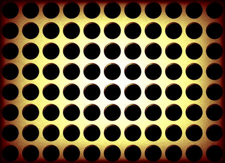 An abstract background illustration of metal holes. Stock Illustration - 2785102