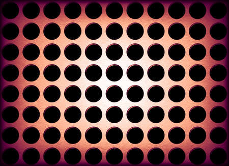 holes: An abstract background illustration of metal holes. Stock Photo