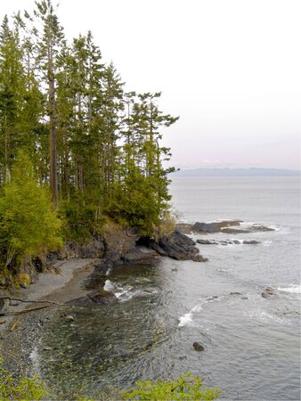 A beautiful rocky beach at Salt Creek Recreation Area in the Pacific Northwest.  photo