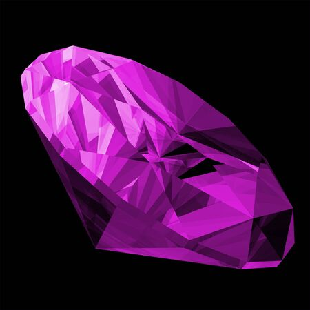 amethyst: A 3d illustration of a amethyst gem isolated on a black background.
